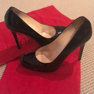 🔴 CHRISTIAN LOUBOUTIN BLACK PATTEN SHOE
